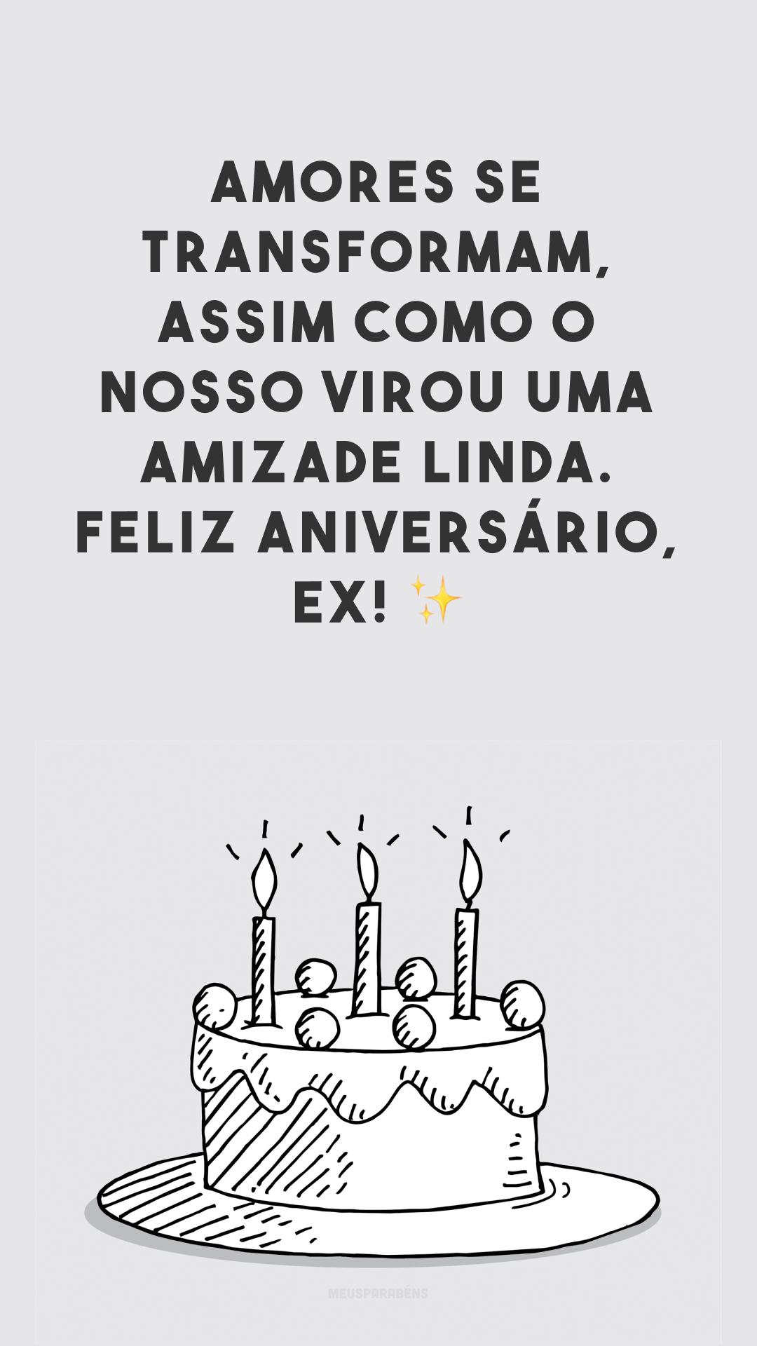 Amores se transformam, assim como o nosso virou uma amizade linda. Feliz aniversário, ex! ✨