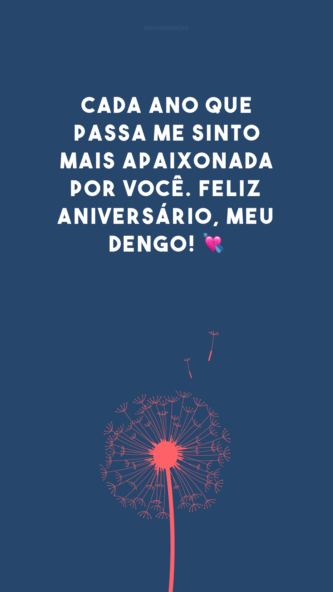 Cada ano que passa me sinto mais apaixonada por você. Feliz aniversário, meu dengo! 💘