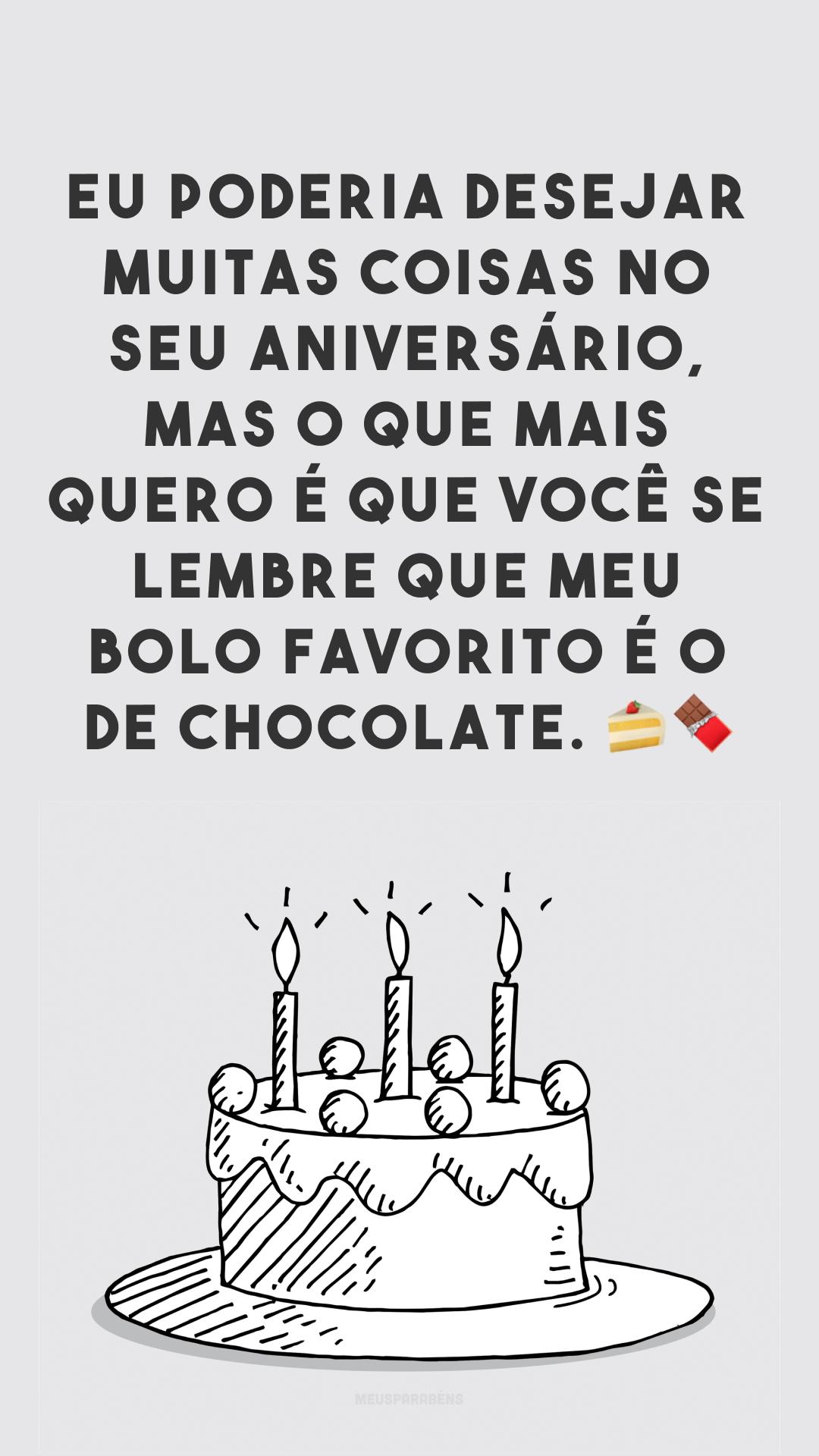 Aniversário é sempre motivo para comemorar com bolo de chocolate