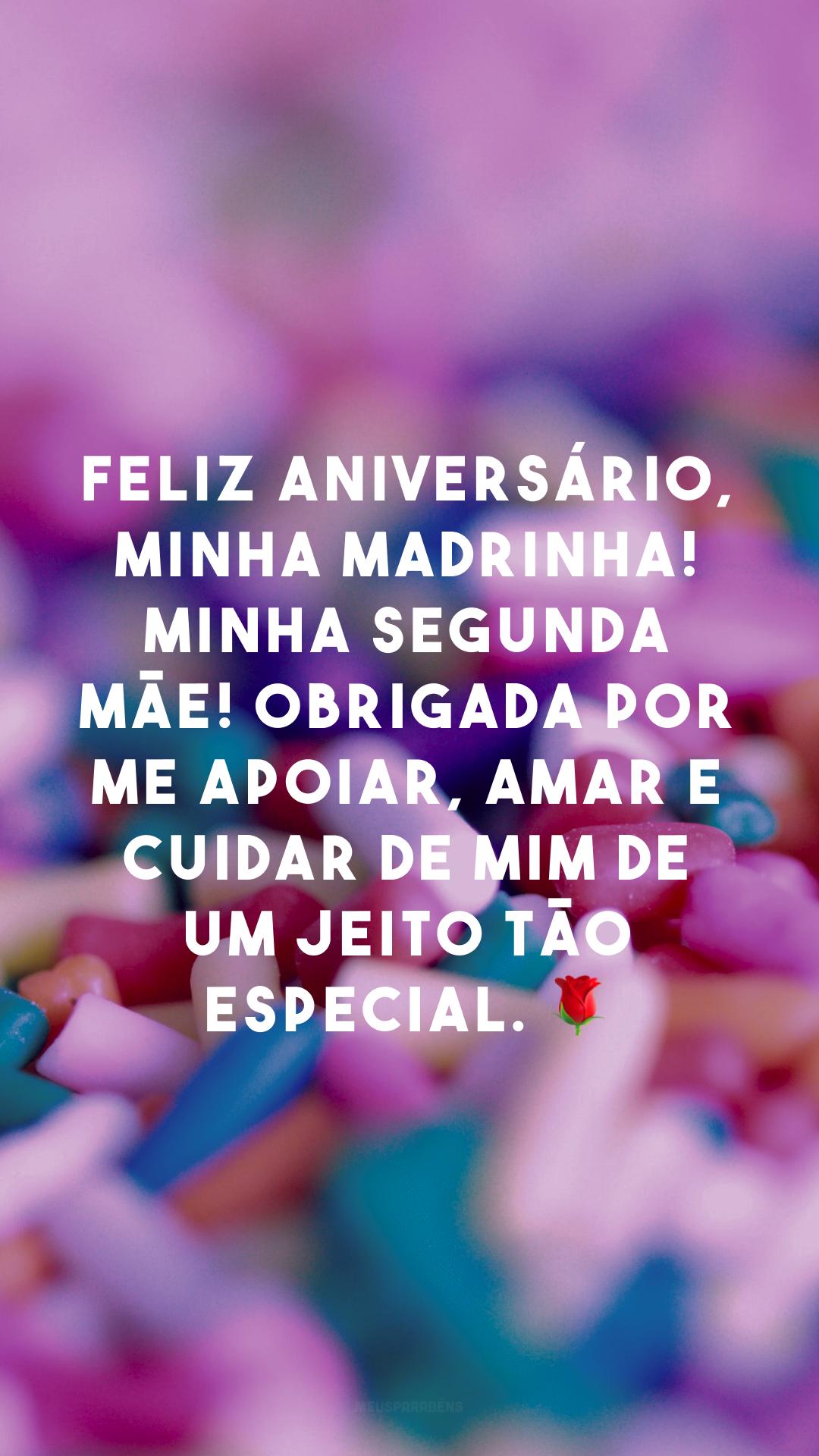 Feliz aniversário, minha madrinha! Minha segunda mãe! Obrigada por me apoiar, amar e cuidar de mim de um jeito tão especial. 🌹