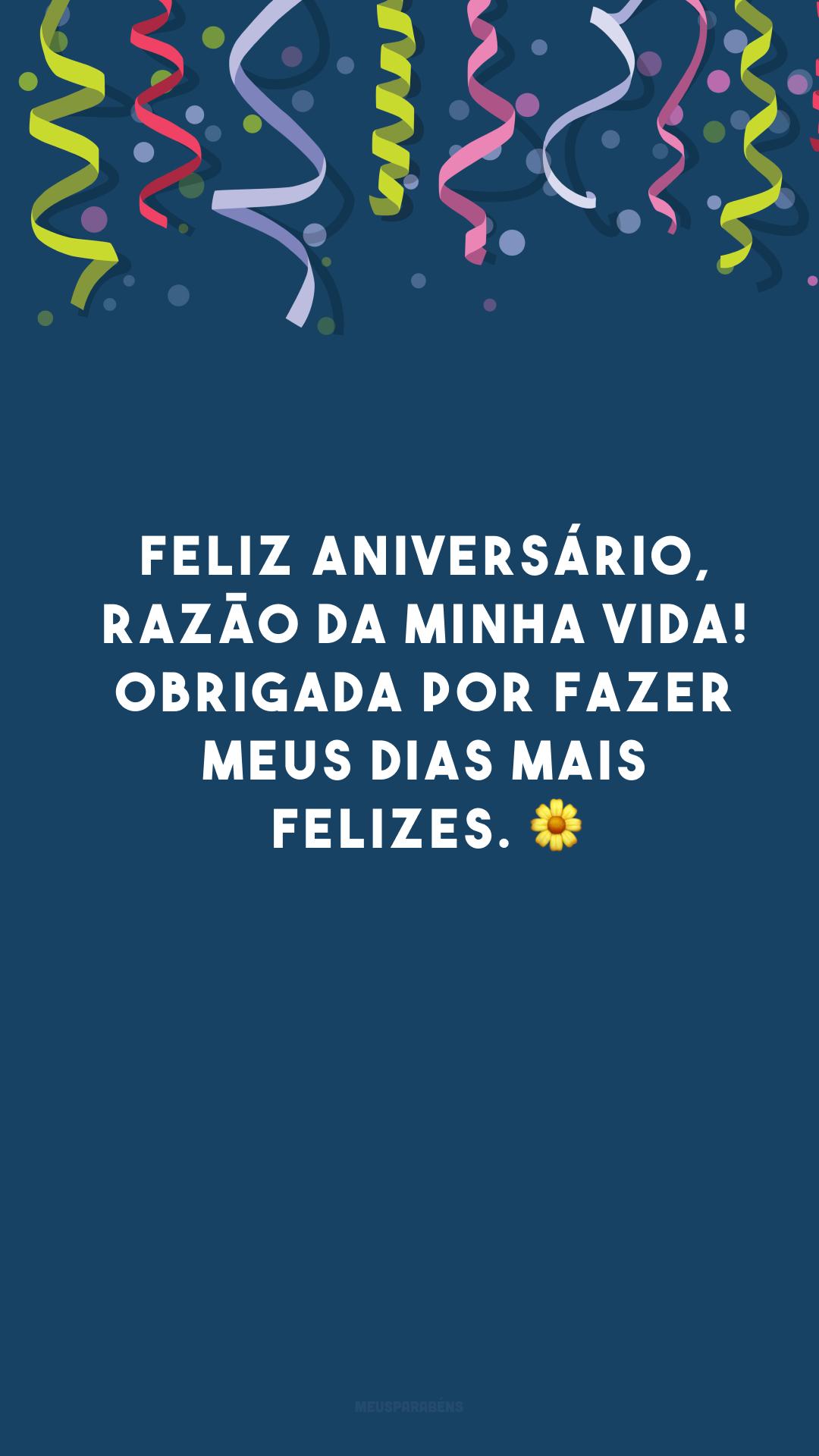 Feliz aniversário, razão da minha vida! Obrigada por fazer meus dias mais felizes. 🌼