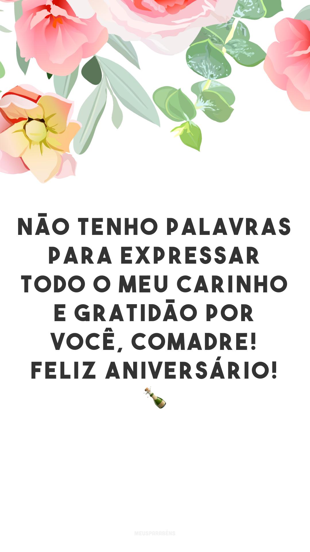 Não tenho palavras para expressar todo o meu carinho e gratidão por você, comadre! Feliz aniversário! ?