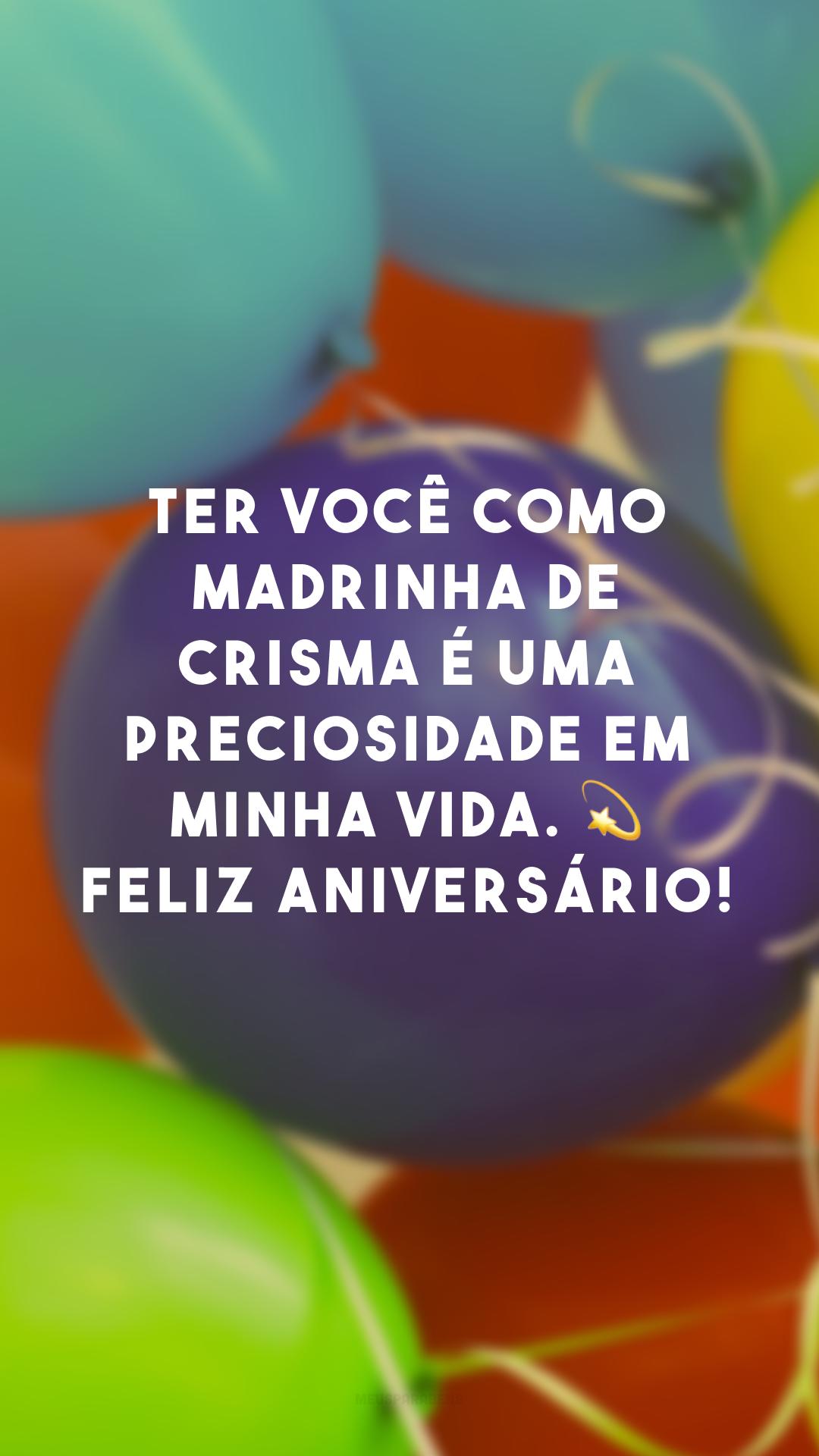 Ter você como madrinha de crisma é uma preciosidade em minha vida. 💫 Feliz aniversário!
