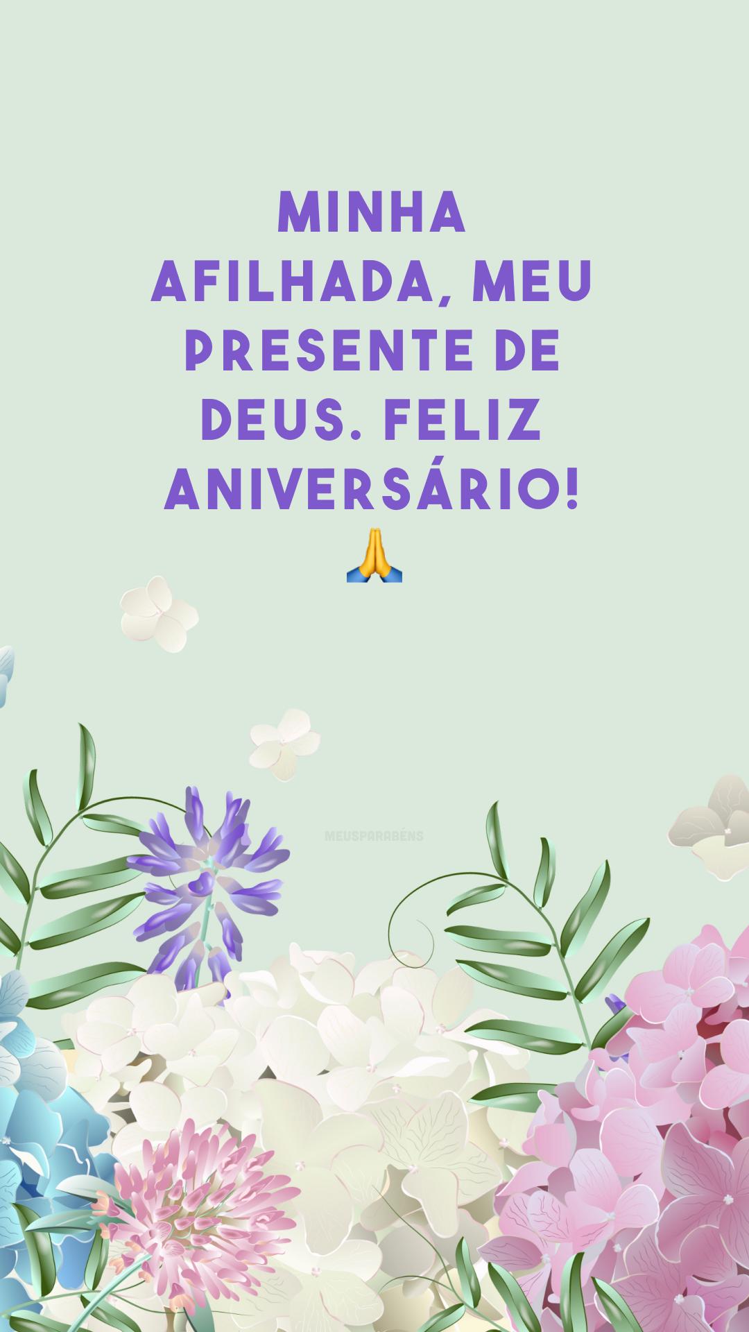Minha afilhada, meu presente de Deus. Feliz aniversário! 🙏