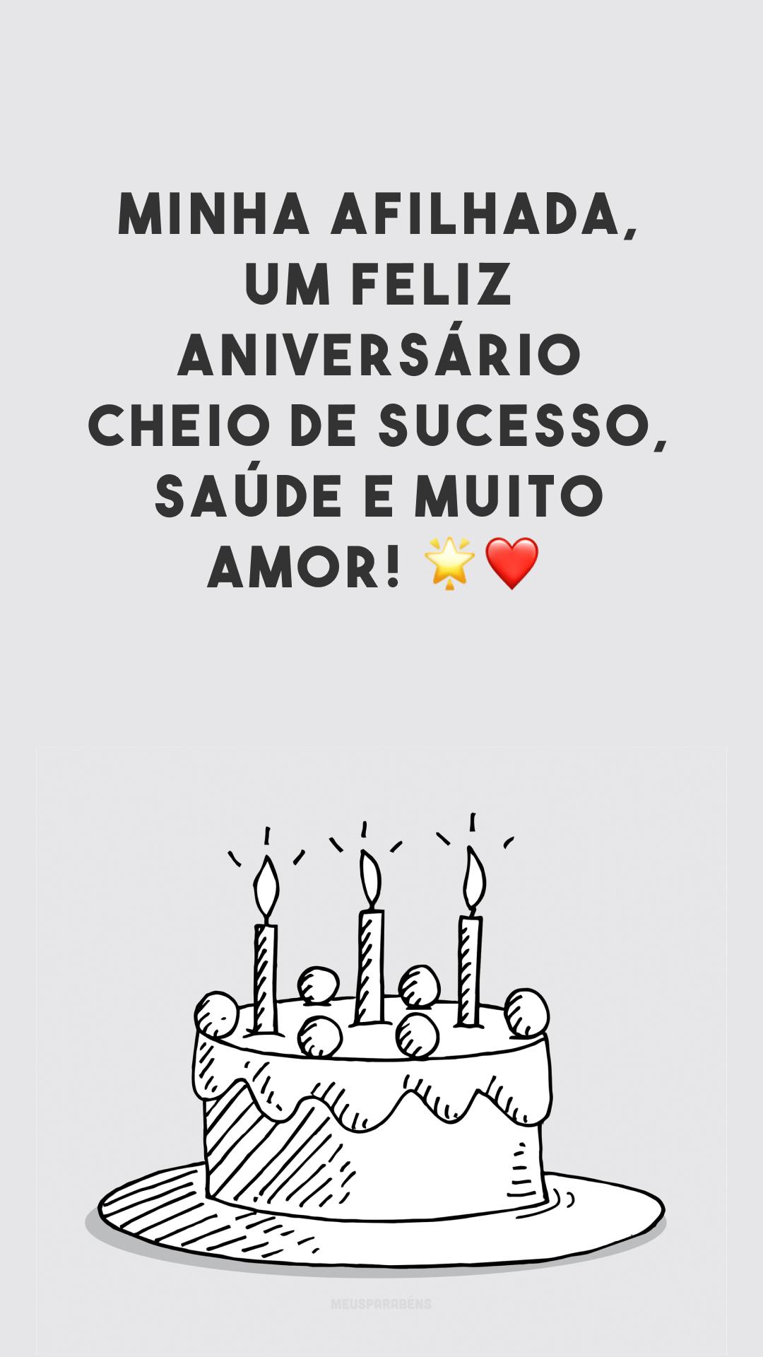 Minha afilhada, um feliz aniversário cheio de sucesso, saúde e muito amor! ?❤