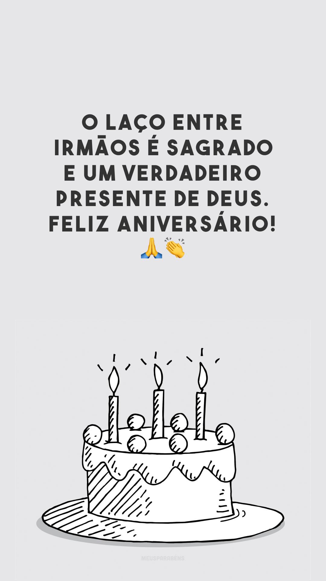 O laço entre irmãos é sagrado e um verdadeiro presente de Deus. Feliz aniversário! ??