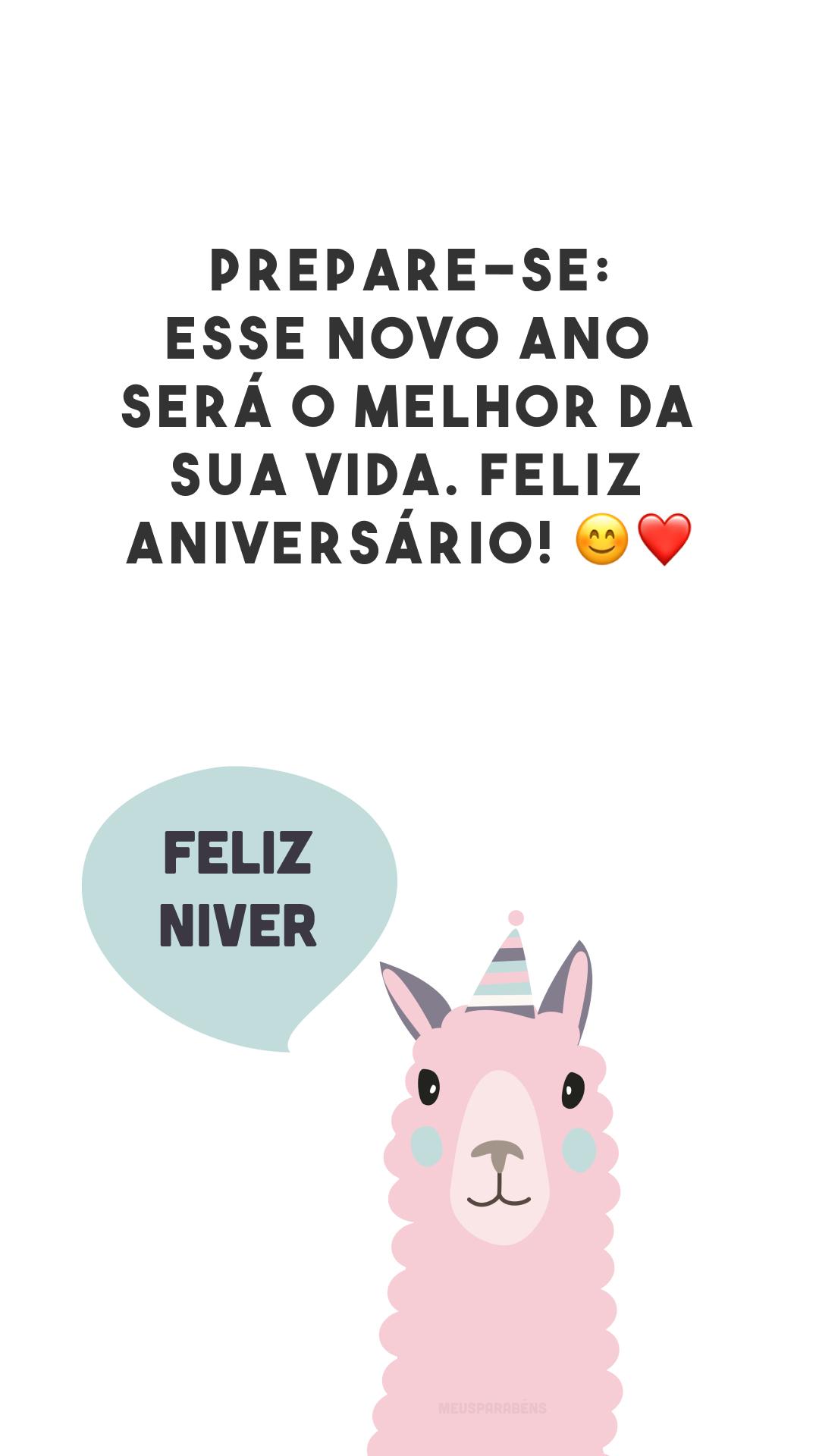 Prepare-se: esse novo ano será o melhor da sua vida. Feliz aniversário! ?❤