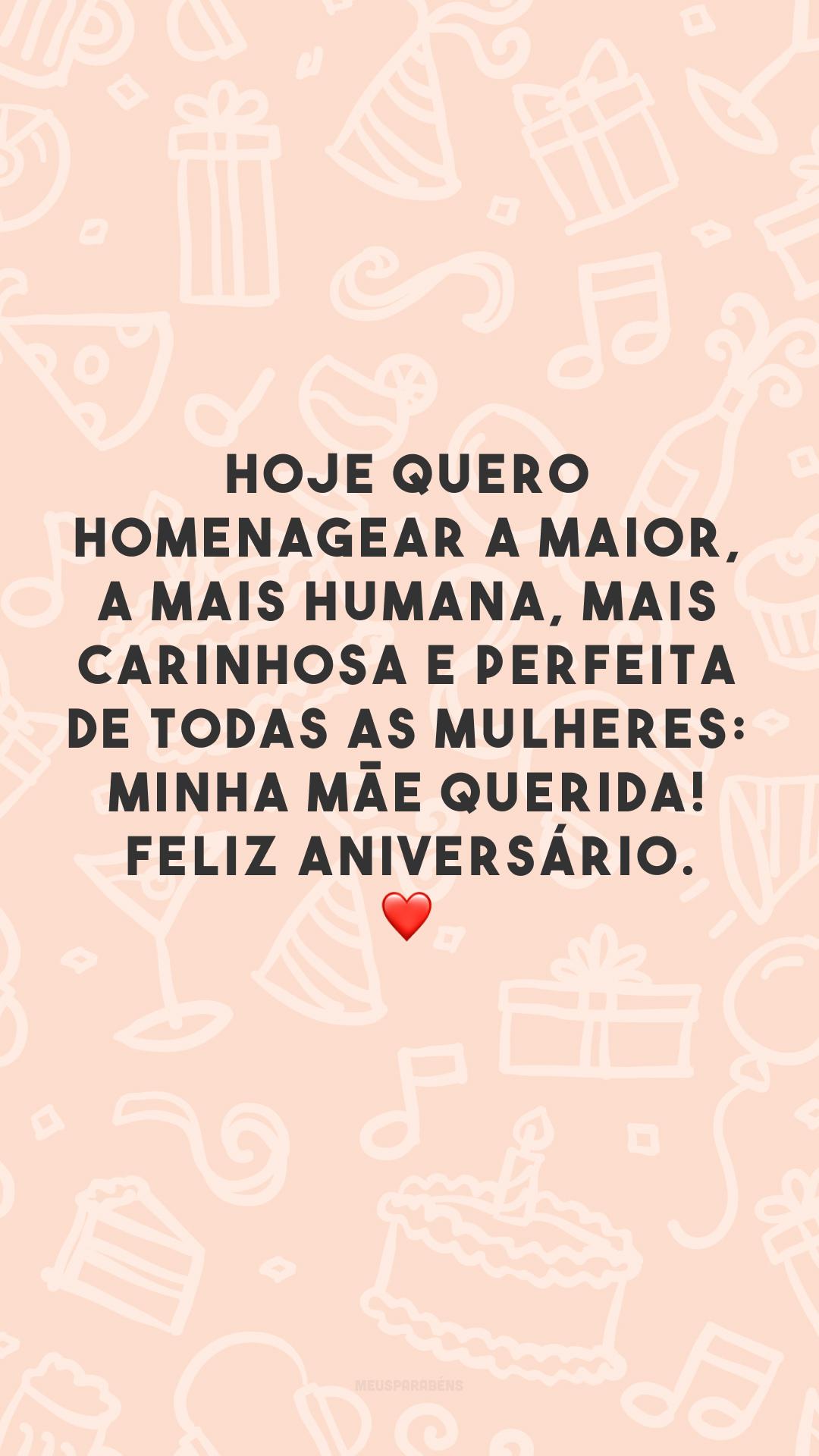 Hoje quero homenagear a maior, a mais humana, mais carinhosa e perfeita de todas as mulheres: minha mãe querida! Feliz aniversário. ❤️
