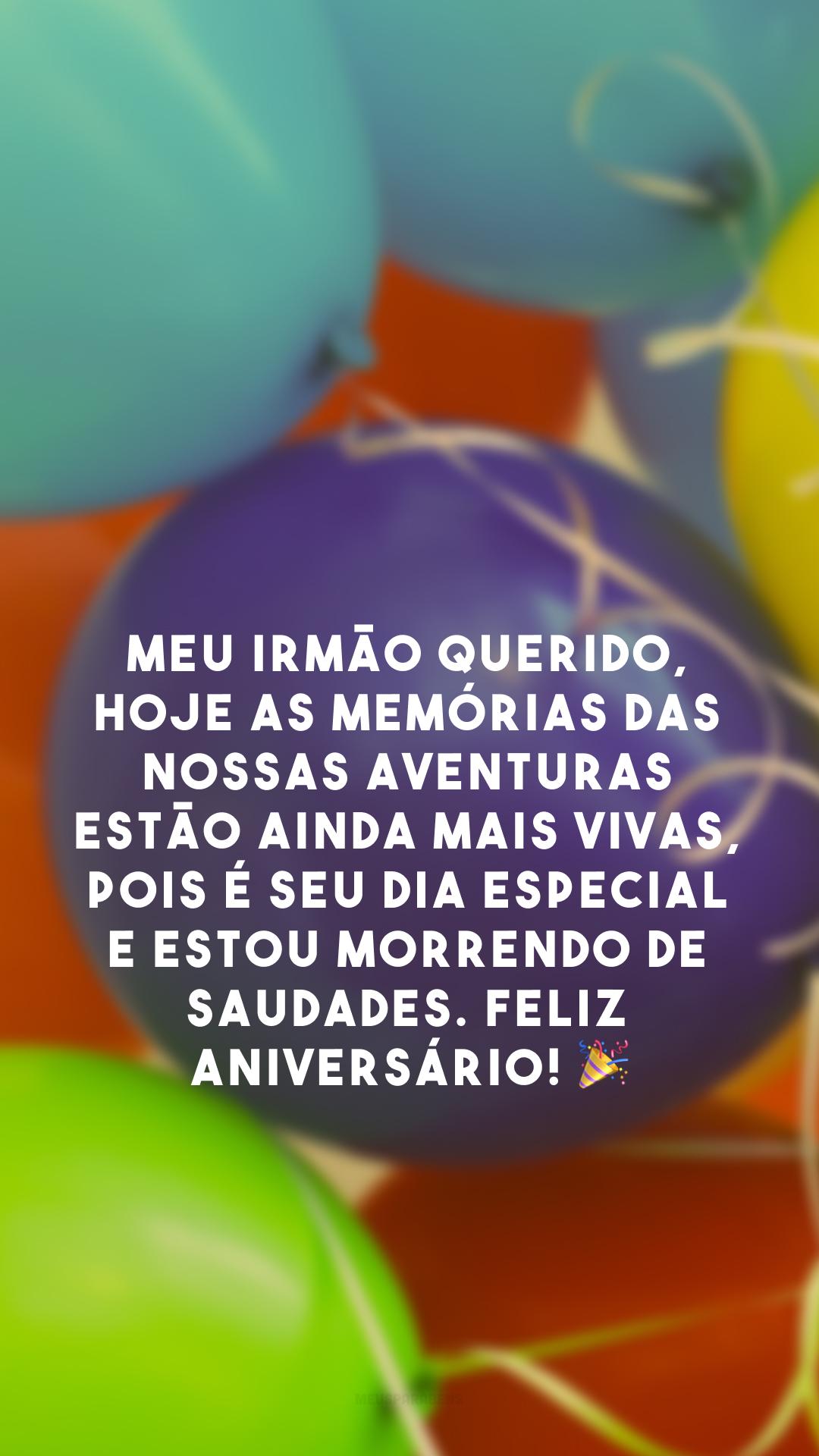 Meu irmão querido, hoje as memórias das nossas aventuras estão ainda mais vivas, pois é seu dia especial e estou morrendo de saudades. Feliz aniversário!