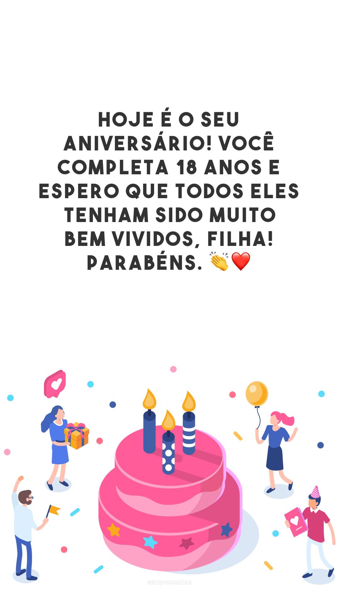 Hoje é o seu aniversário! Você completa 18 anos e espero que todos eles tenham sido muito bem vividos, filha! Parabéns. 👏❤️