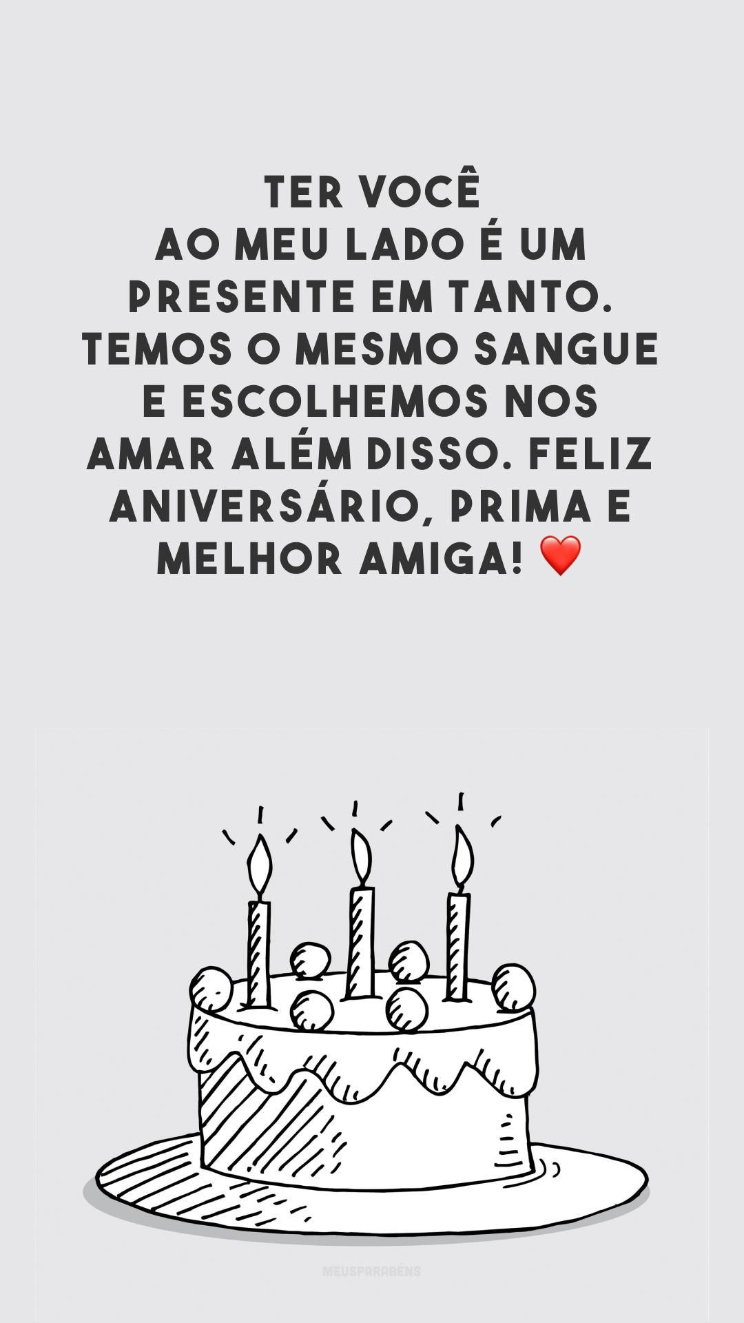Ter você ao meu lado é um presente em tanto. Temos o mesmo sangue e escolhemos nos amar além disso. Feliz aniversário, prima e melhor amiga! ❤️