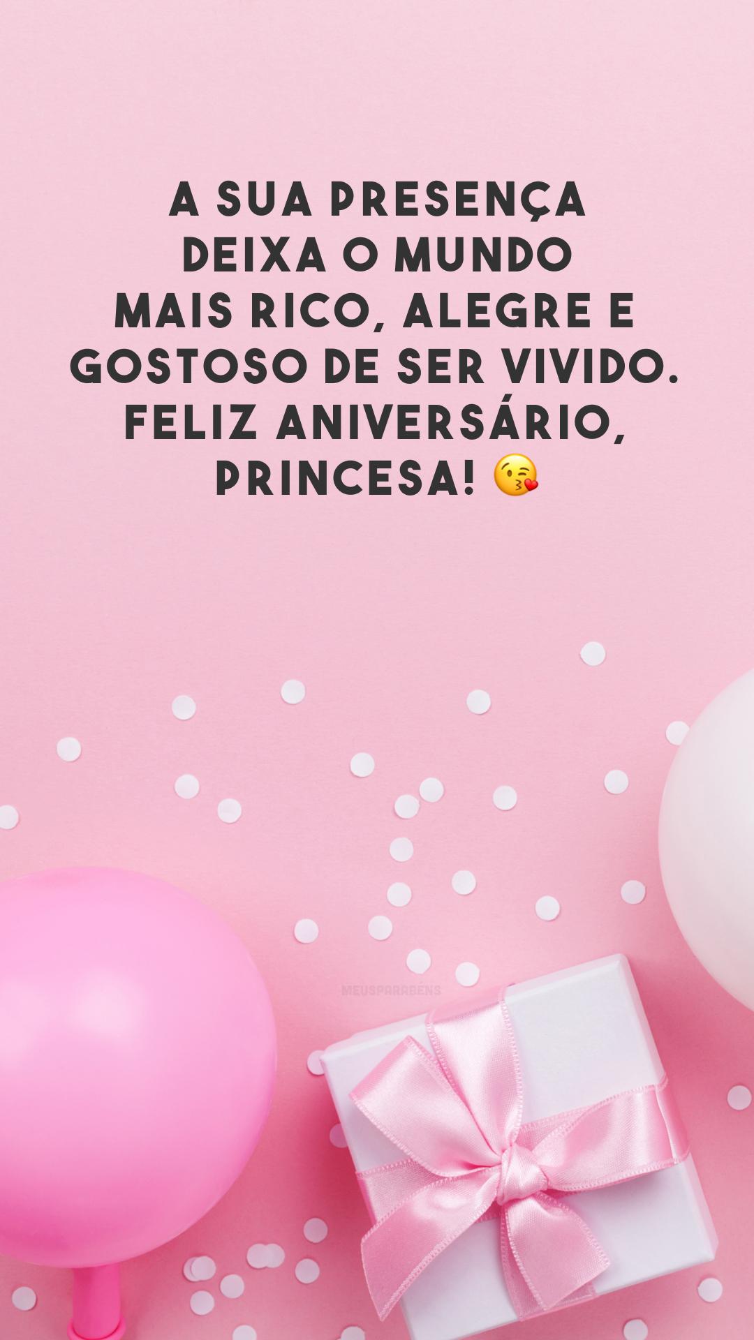 A sua presença deixa o mundo mais rico, alegre e gostoso de ser vivido. Feliz aniversário, princesa! 😘