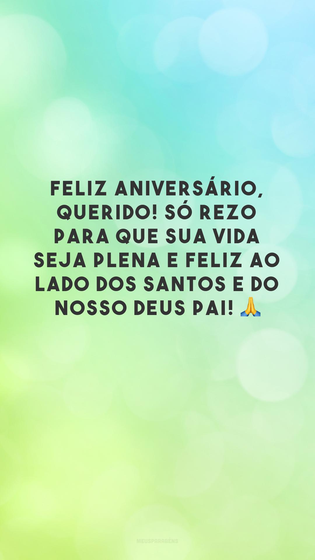 Feliz aniversário, querido! Só rezo para que sua vida seja plena e feliz ao lado dos Santos e do nosso Deus Pai! 🙏