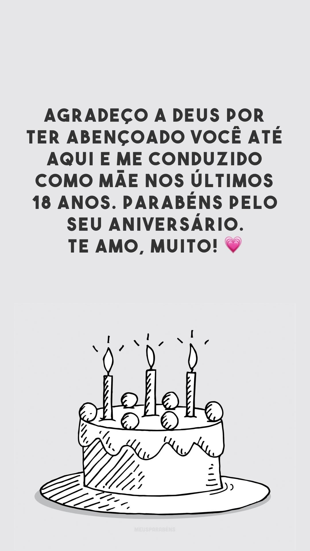 Agradeço a Deus por ter abençoado você até aqui e me conduzido como mãe nos últimos 18 anos. Parabéns pelo seu aniversário. Te amo, muito! 💗