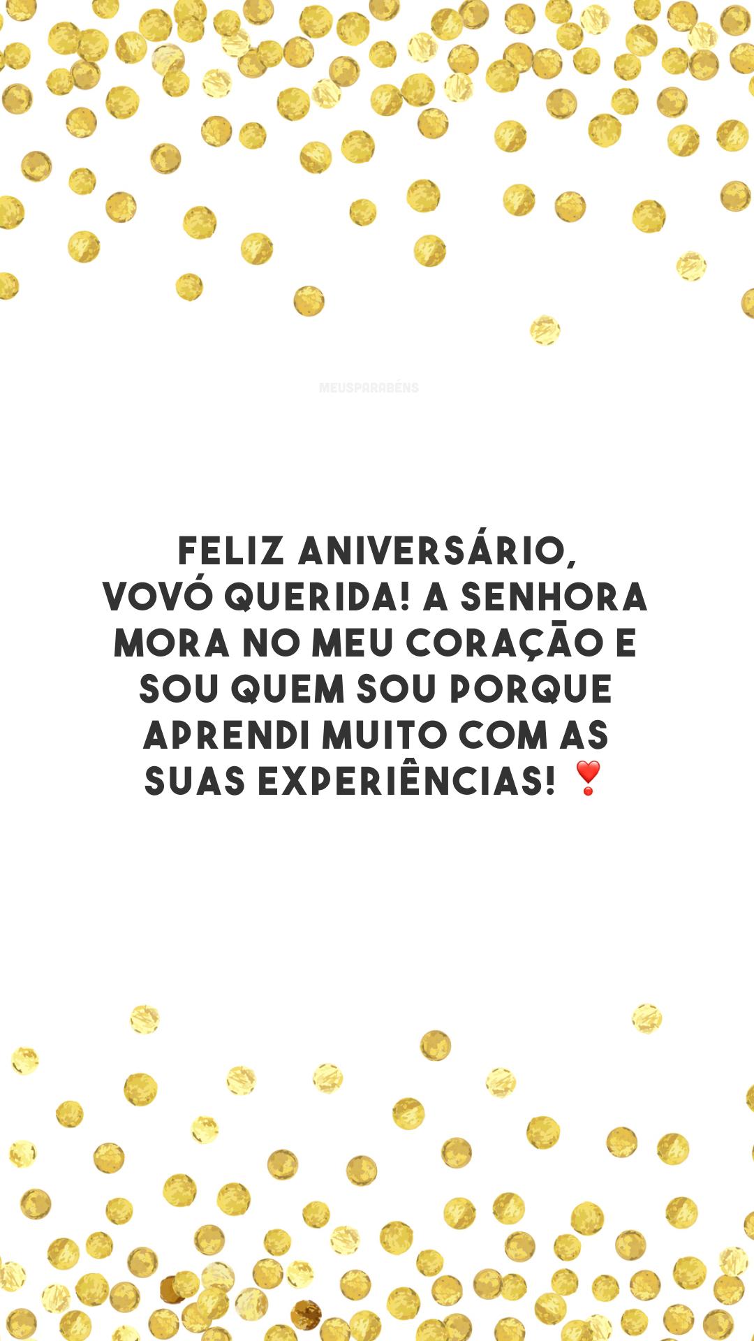 Feliz aniversário, vovó querida! A senhora mora no meu coração e sou quem sou porque aprendi muito com as suas experiências! ❣️