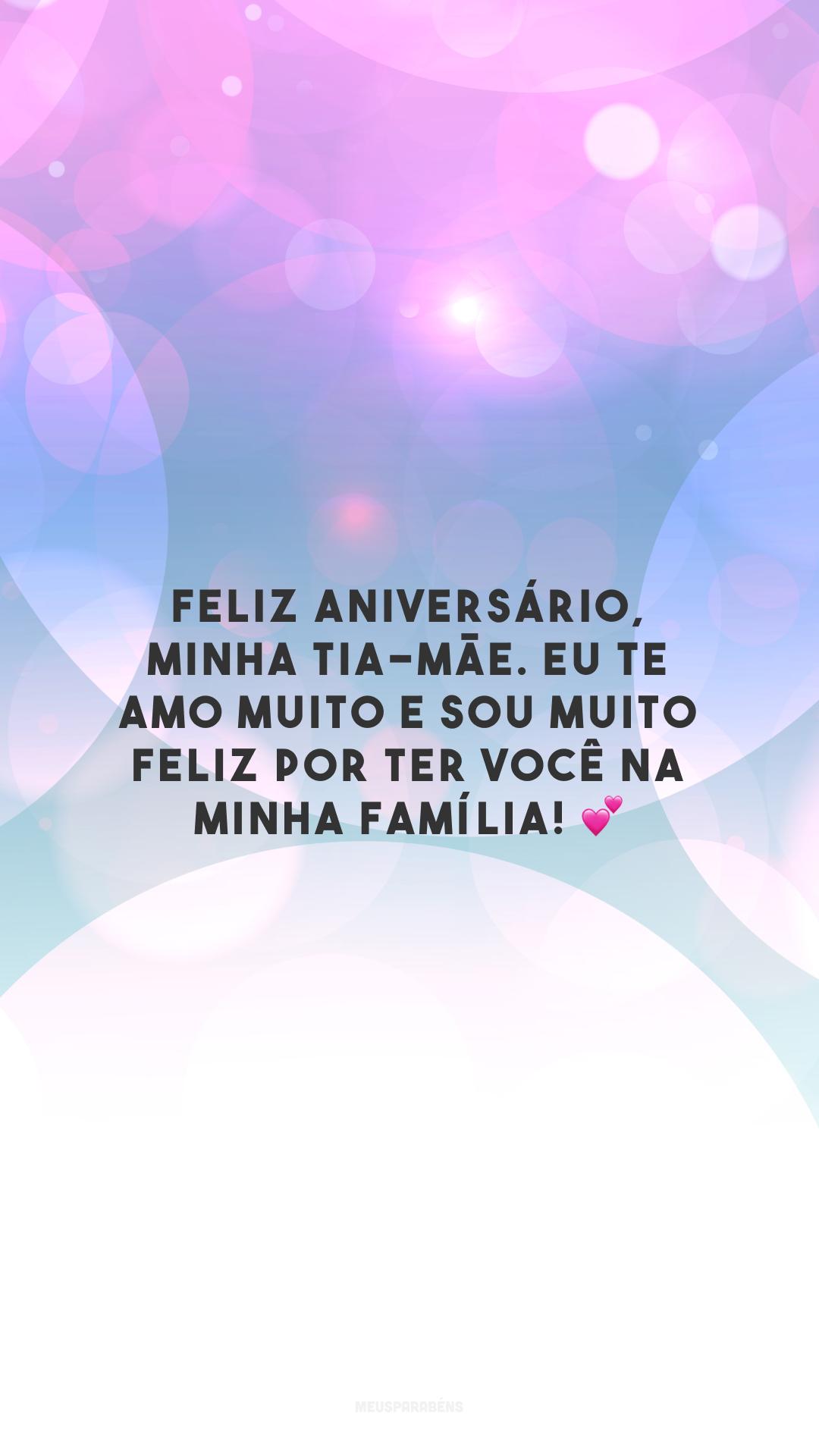Feliz aniversário, minha tia-mãe. Eu te amo muito e sou muito feliz por ter você na minha família! 💕