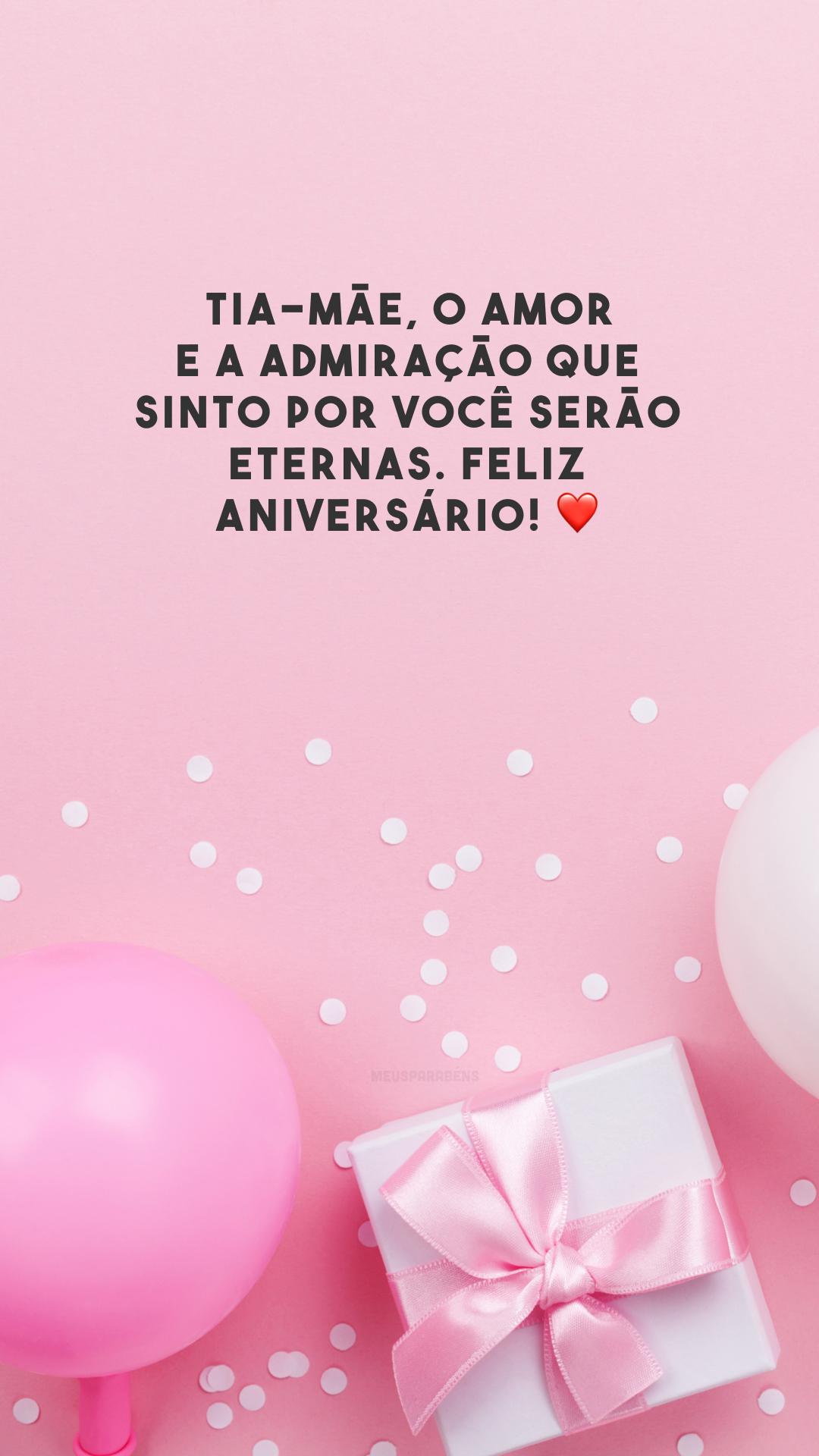 Tia-mãe, o amor e a admiração que sinto por você serão eternas. Feliz aniversário! ❤️