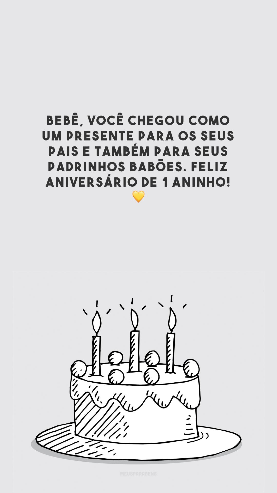 Bebê, você chegou como um presente para os seus pais e também para seus padrinhos babões. Feliz aniversário de 1 aninho! 💛