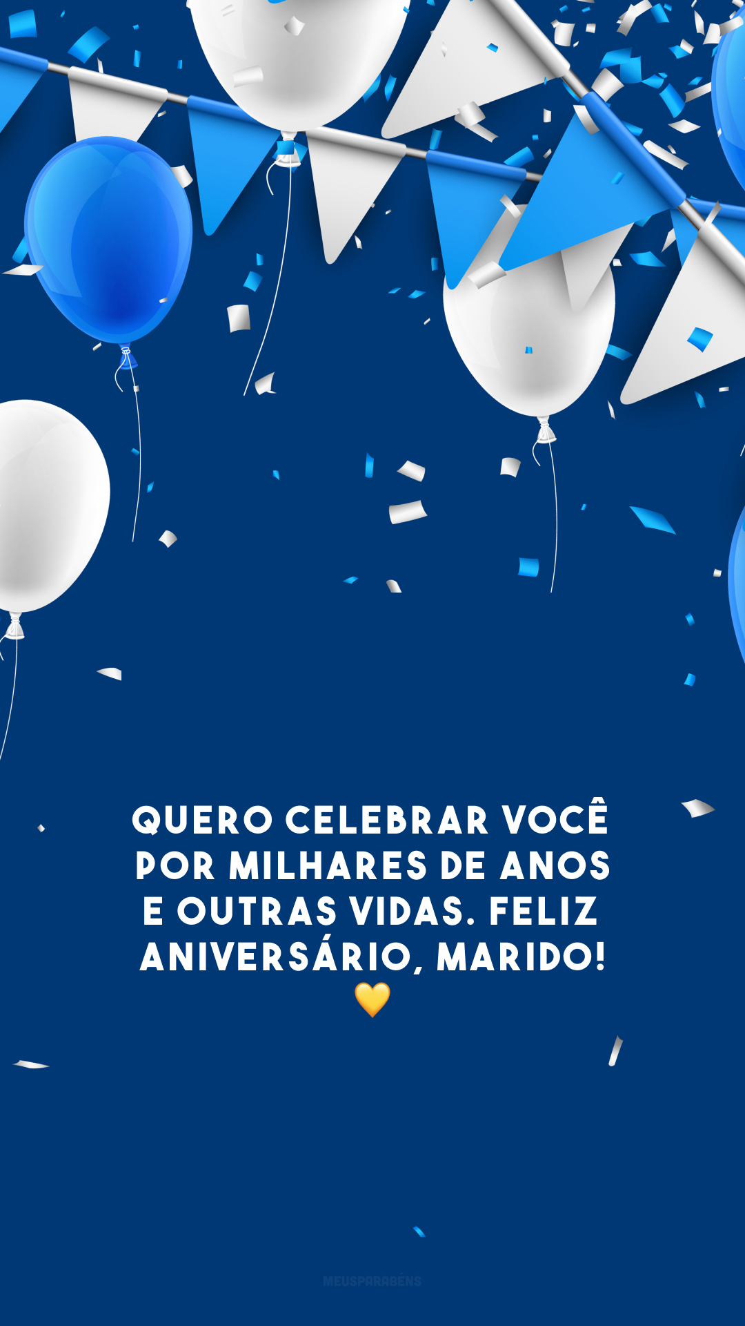 Quero celebrar você por milhares de anos e outras vidas. Feliz aniversário, marido! 💛