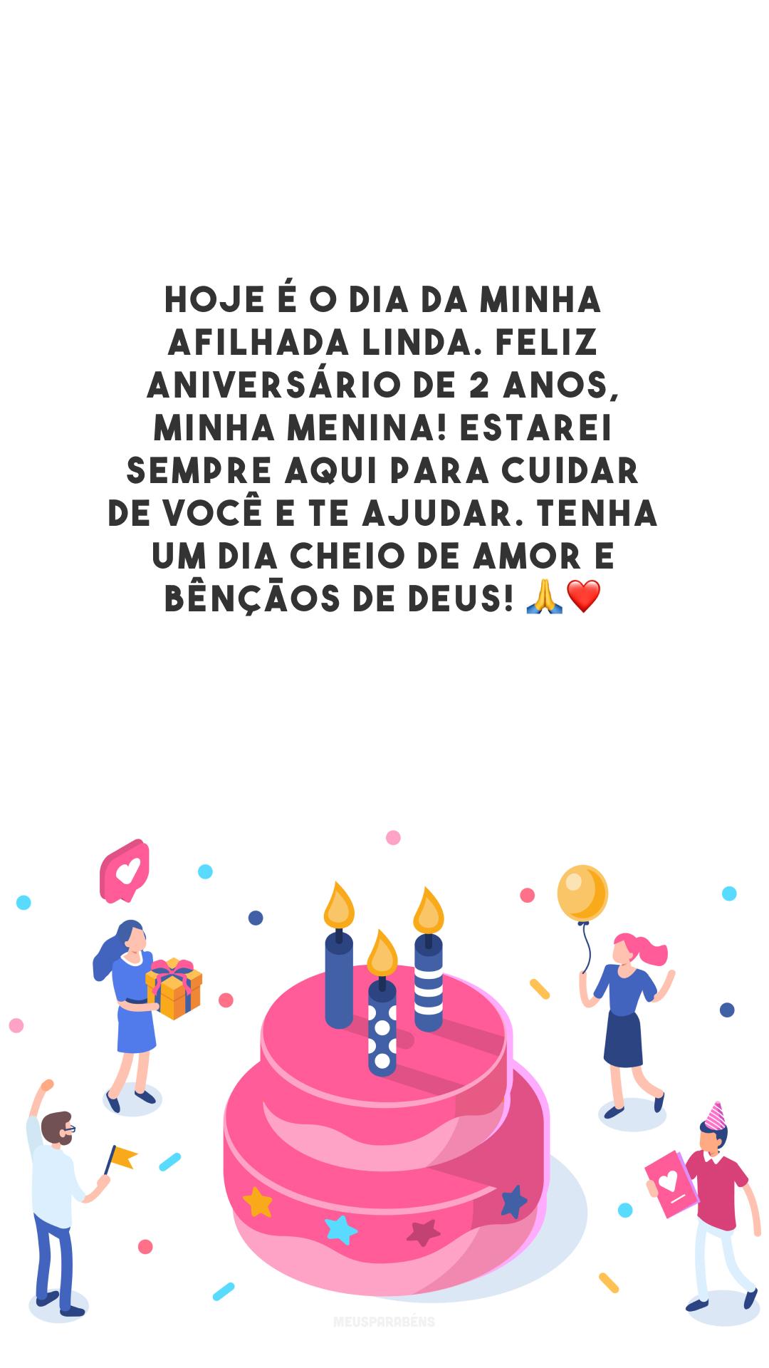 Hoje é o dia da minha afilhada linda. Feliz aniversário de 2 anos, minha menina! Estarei sempre aqui para cuidar de você e te ajudar. Tenha um dia cheio de amor e bênçãos de Deus! 🙏❤️