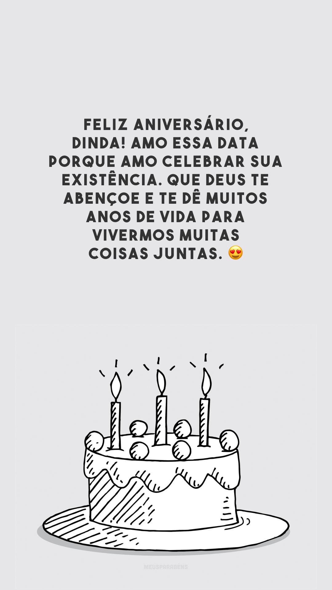 Feliz aniversário, dinda! Amo essa data porque amo celebrar sua existência. Que Deus te abençoe e te dê muitos anos de vida para vivermos muitas coisas juntas. 😍