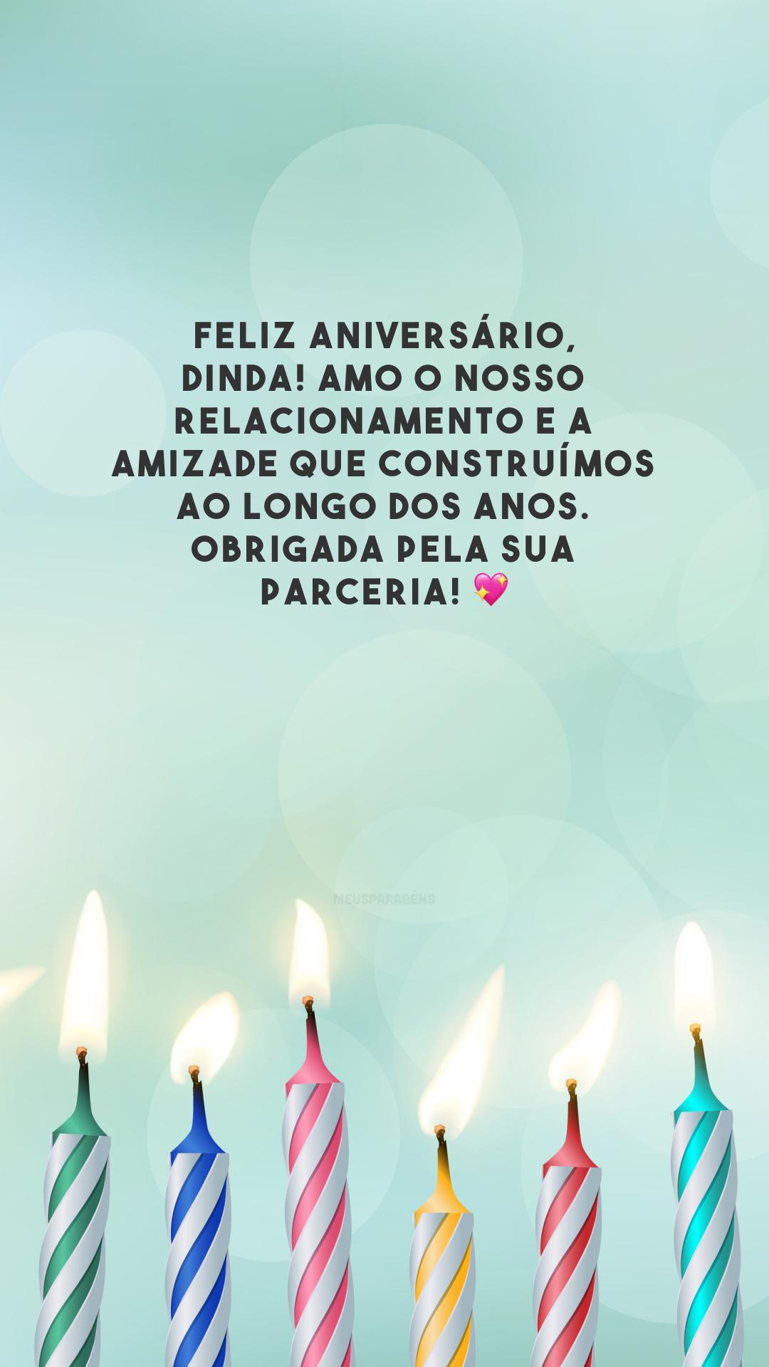 Feliz aniversário, dinda! Amo o nosso relacionamento e a amizade que construímos ao longo dos anos. Obrigada pela sua parceria! 💖