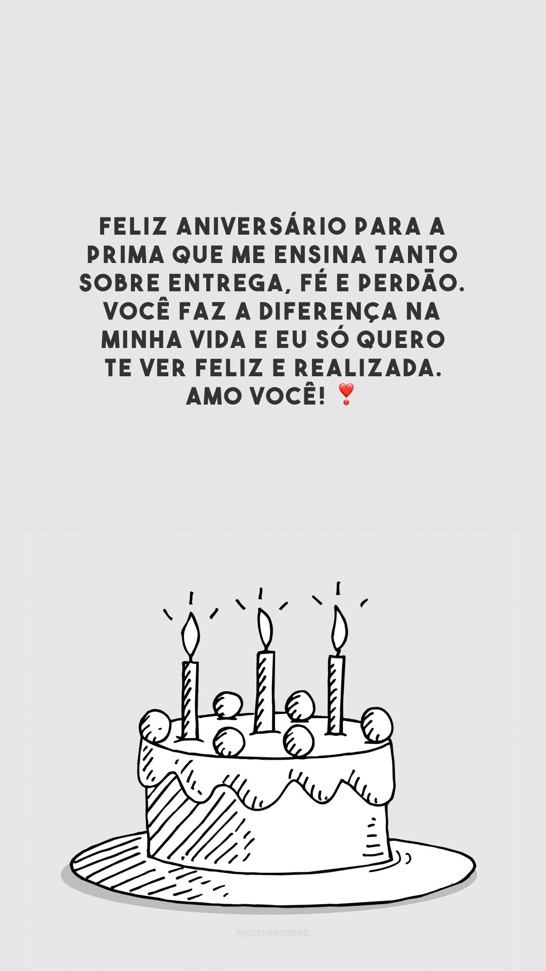 Feliz aniversário para a prima que me ensina tanto sobre entrega, fé e perdão. Você faz a diferença na minha vida e eu só quero te ver feliz e realizada. Amo você! ❣️