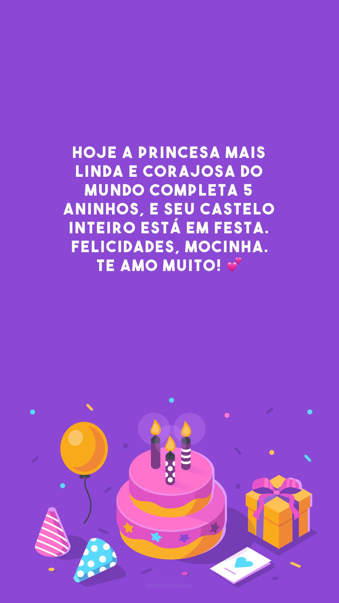 Hoje a princesa mais linda e corajosa do mundo completa 5 aninhos, e seu castelo inteiro está em festa. Felicidades, mocinha. Te amo muito! 💕